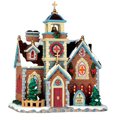 United Hope Church Lemax Christmas Village Illuminated Building - New For 2016