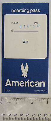 vintage American Airlines Boarding Pass & Beverage List