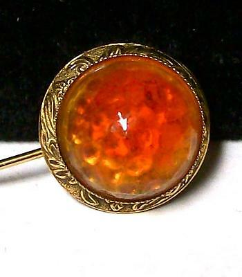 Vintage VICTORIAN BEVELLED HONEYCOMB GLASS STICK PIN-Scarf Pin-Estate