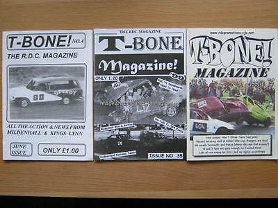 T-Bone banger racing magazine issues 4, 35 & 75 RDC Promotions Mildenhall
