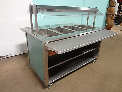 """ CARTER HOFFMANN "" COMMERCIAL LIGHTED 4 WELLS ""HOT"" BUFFET TABLE w/SNEEZE GUARD"