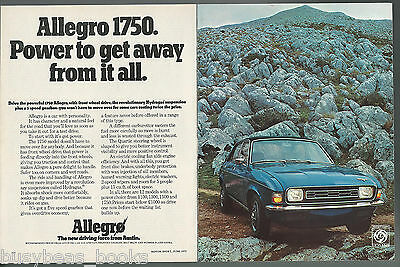 1973 AUSTIN ALLEGRO 1750 2-page advertisement, British advert, British Leyland