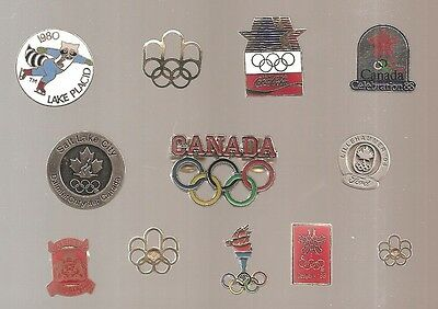 1980's-1990's Olympics Summer & Winter Games, Olympic Pins  **Lot of 12 pins**