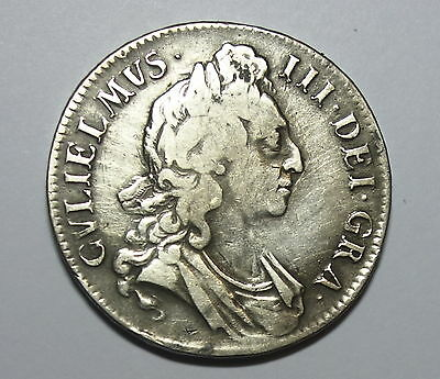 Great Britain :  Crown  1696. King William 111.  Silver.