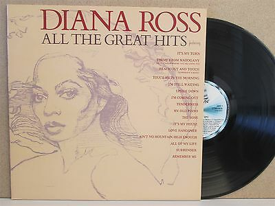 DIANA ROSS ALL THE GREAT HITS LP (1981 Motown EX-) Best of/Greatest Soul 60s 70s