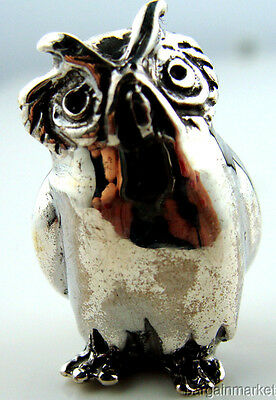 Sterling Silver 925 Miniature Wise Owl Figurine #s7