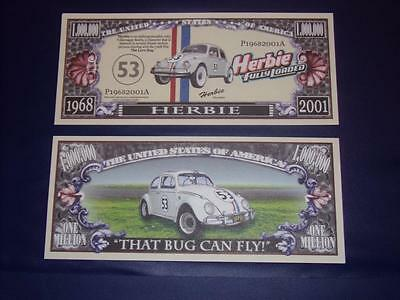 Beautiful Crisp Disney Herbie Fully Loaded U.s. Banknote Free Note Offer!
