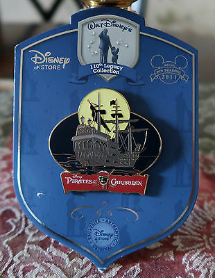 DISNEY 110th Legacy PIRATES OF THE CARIBBEAN LE 250 Pin New On Card BLACK PEARL