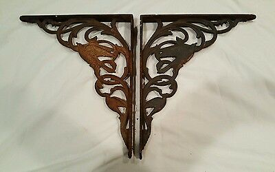 Antique Victorian/Nouveau Dove/Bird Antique Cast Iron Wall Shelf Brackets