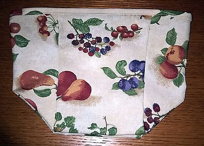 Tall Tissue Basket Liner from Longaberger Fruit Medley fabric.  New!