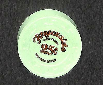 Casino Chip Las Vegas Nevada 25 - Cents Fitzgeralds Hotel 1St Green (1988-) Vf++