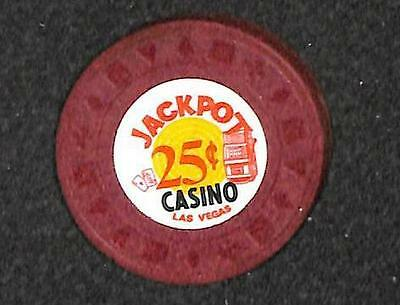 Casino Chip Las Vegas Nevada 25¢ Jackpot 2Nd Brown (1971-1977) Vf++