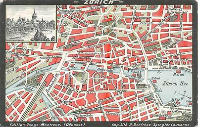 Zurich Switzerland Street Map on switzerland on europe map, zurich germany on map, zurich city map,