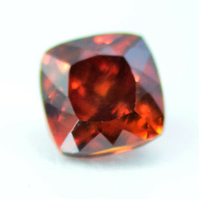 Certificate Natural Unheated Rare Orange Sphalerite Cush 1.69 Carats From Spain