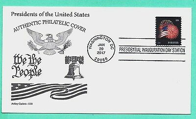 Donald Trump 2017 Inauguration Cover, Ashley Cachet W/star Spangled Banner Stamp