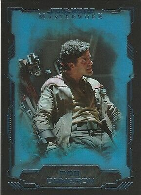 2016 Star Wars Masterworks POE DAMERON BLUE BASE SP #70