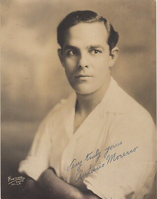 RARE Autographed Photograph of Silent Movie Star Antonio Moreno