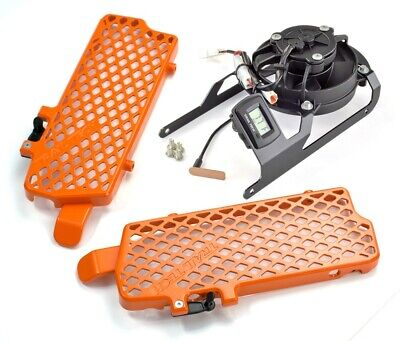 Trail Tech Radiator Guard/Fan Combo / Orange - KTM 7323C-FN1