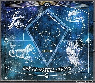 MALI 2013-47 Astronomy  Astronomie  Astronomie Constellations MNH