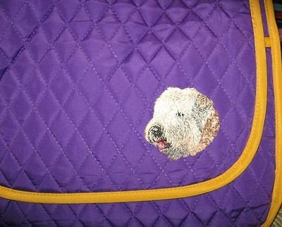 Q purse SOFT COATED WHEATEN Quilted Purple Fabric Purse Messenger/Tablet