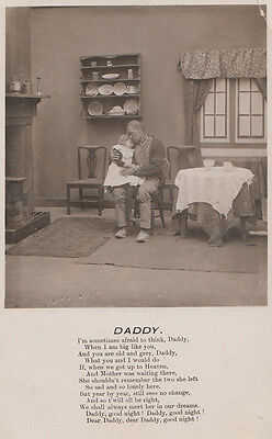 Daddy Dad Father Growing Old Ageing Elderly Love Songcard Prayer Postcard