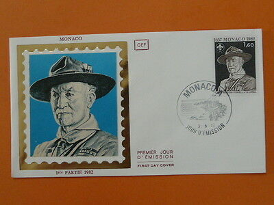 scout scouting Baden Powell FDC Monaco 38496