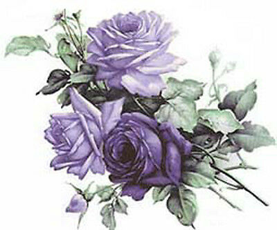 BeST ChiC CaBbaGe RoSeS ShaBby WaTerSLiDe DeCALs *ViViD VioLeT*