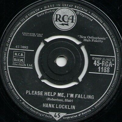 "Hank Locklin Please Help Me, I'm Falling (15795) 7"" Single 1960 RCA 45-RCA 1188"