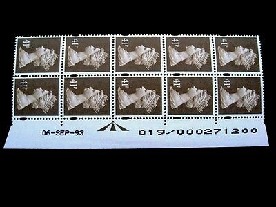 Enschede.41p.Warrant/Date block of 10.U389.Right.Superb MNH.Unfolded.