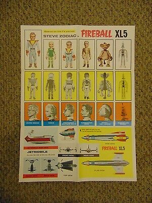 Gerry Anderson Supermarionation Original 2 Sided Fireball XL5 Poster #L9516