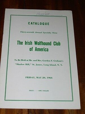 Rare Irish Wolfhound Club Of America Dog Show Catalogue Book May 20Th 1966