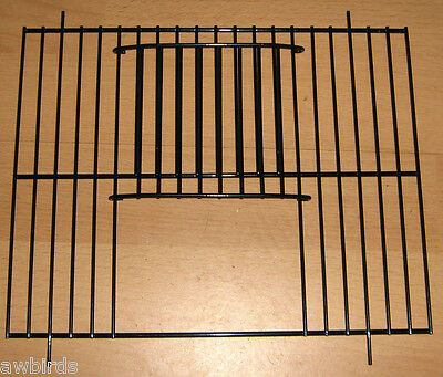 "2 x BLACK UNIVERSAL FINCH / CANARY CAGE / CARRY UNI CAGE FRONTS 10"" x 8"""
