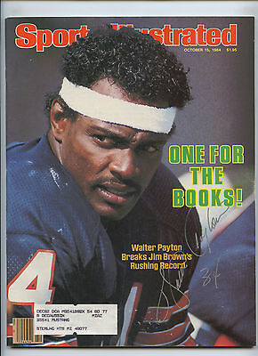 Walter Payton Chicago Bears Signed 1984 Sports Illustrated JSA Authenticated