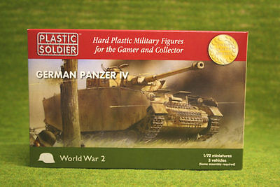 Plastic Soldier Company WW2 GERMAN PANZER IV 1/72nd scale 20mm