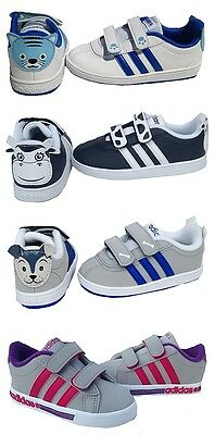 Adidas Infants WHOLESALE JOB LOT x 100 PAIRS NEW BOXED Velcro Trainers MIXED