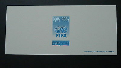 football FIFA world cup stamp proof engraving 2004