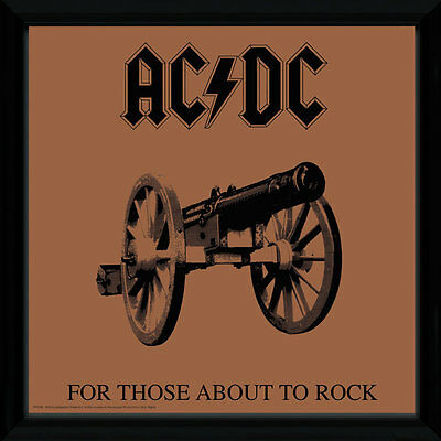 """GB Eye 12"""" Vinyl Cover Frame AC/DC - For Those About To Rock NEU+OVP!"""