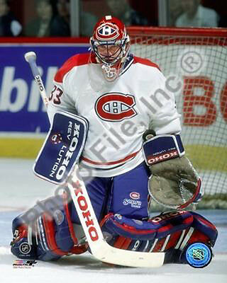 Patrick Roy Montreal Canadiens in Goal Save Action 8 x 10 Photo