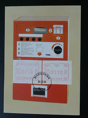 ATM FRAMA franking label 1984 maximum card Aland 70631