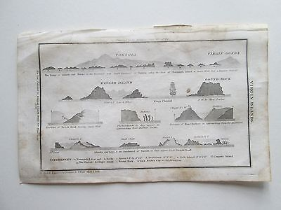 "1841 BLUNT'S  CHART- ""VIRGIN ISLANDS"" as seen in the pictures."