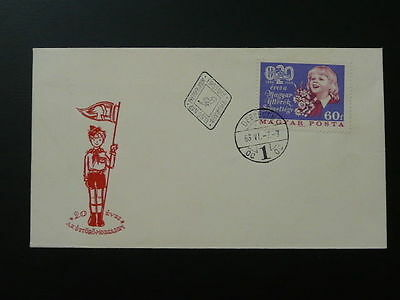 girl scout FDC 1966 Hungary 64511