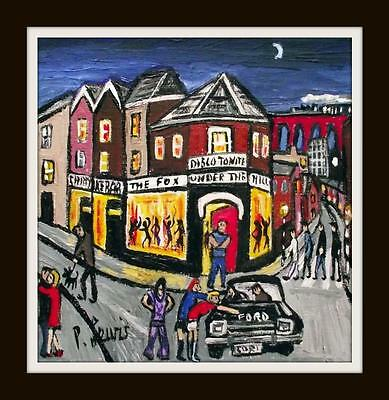 Disco Night at The Fox : Original Northern Art Oil Painting : Phil Lewis