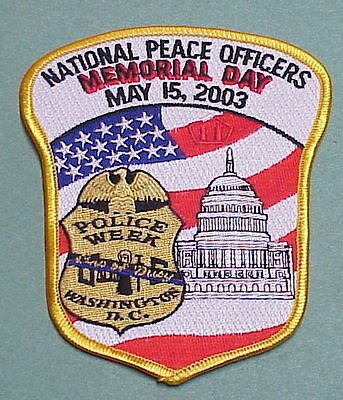 Washington Dc  National Peace Officers  2003  Police Week   Police Patch