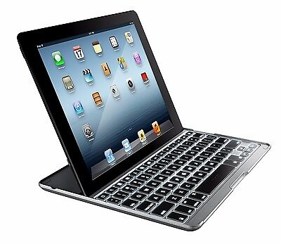 ZAGG PROplus Case Cover with Backlit Bluetooth Keyboard For Apple iPad 2/3/4