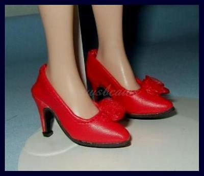 """Doll Shoes ~ Franklin Mint 16/"""" Red color Heel Shoes 1PAIR"""