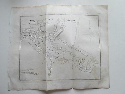 """1847 Blunt's Chart  """"Doboy Sound & Sapello Island""""  9-1/8"""" Wide By 7-1/8"""" Tall"""