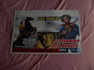 "Vintage Belgian Film Poster ""Lonely are the Brave"" Kirk Douglas. Affiche belge"