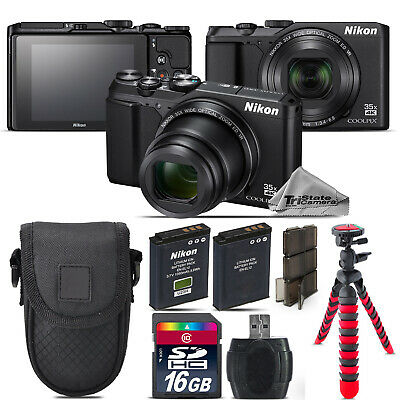 Nikon Coolpix A900 20MP Digital Camera Black 35x Optical Zoom - 16GB Kit Bundle