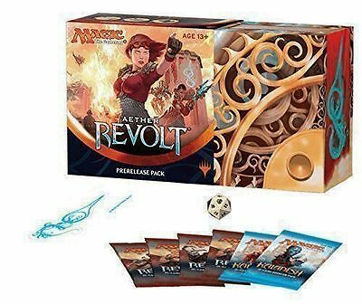AETHER REVOLT PreRelease Pack Box Kit Magic the Gathering MTG SEALED 6 Booster +