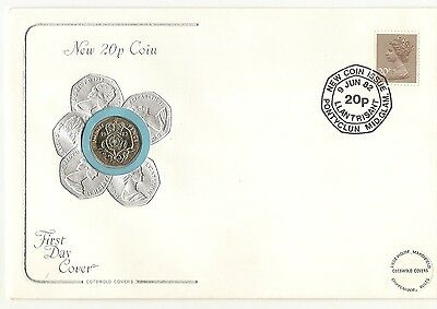 GB 1982 New 20p Coin Cover FDC